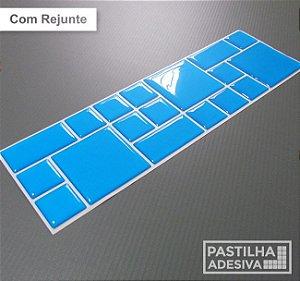 Faixa Mosaico Adesiva Resinada 28x9 cm - AT97