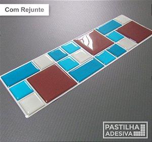 Faixa Mosaico Adesiva Resinada 28x9 cm - AT109