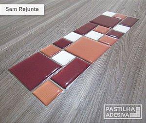 Faixa Mosaico Adesiva Resinada 28x9 cm - AT118