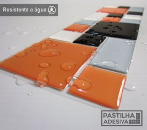 Faixa Mosaico Adesiva Resinada 28x9 cm - AT120