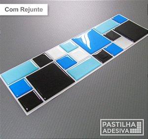 Faixa Mosaico Adesiva Resinada 28x9 cm - AT121