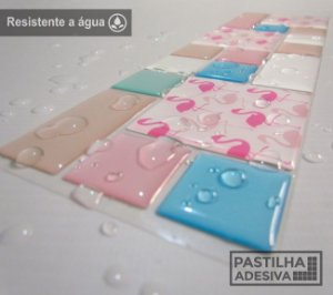 Faixa Mosaico Adesiva Resinada 28x9 cm - AT127