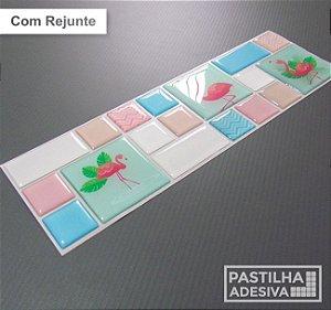 Faixa Mosaico Adesiva Resinada 28x9 cm - AT128