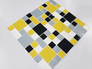 Placa Mosaico Adesiva Resinada 30x27 cm - AT135 - Amarelo