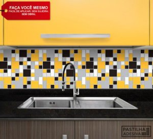 Placa Mosaico Adesiva Resinada 30x28,5 cm - AT135