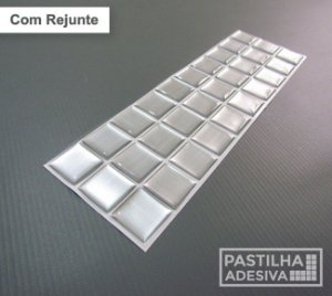 Faixa Pastilha Adesiva Resinada Aço Escovado 28x9 cm - AT142