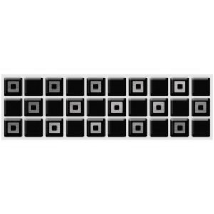 Faixa Pastilha Adesiva Resinada Aço Escovado 28x9 cm - AT164