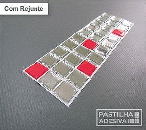 Faixa Pastilha Adesiva Resinada Espelhada 27x8 cm - AT169 - Vermelha