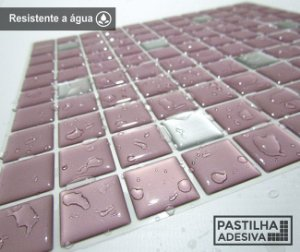 Placa Pastilha Adesiva Resinada 30x28,5 cm - AT179