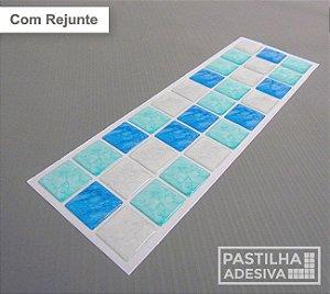 Faixa Pastilha Adesiva Resinada 27x8 cm - AT184 - Azul