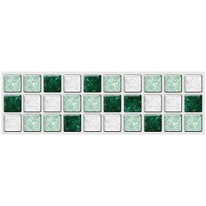 Faixa Pastilha Adesiva Resinada 27x8 cm - AT200 - Verde