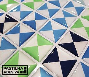 Placa Pastilha Adesiva Resinada 30x27 cm - AT206 - Colorido