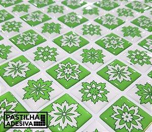 Placa Mosaico Adesiva Resinada 30x27 cm - AT209 - Verde