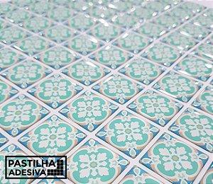 Placa Mosaico Adesiva Resinada 30x27 cm - AT218 - Azul