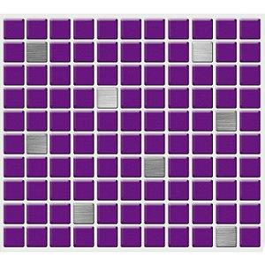 Placa Pastilha Adesiva Resinada 30x27 cm - AT221 - Roxo