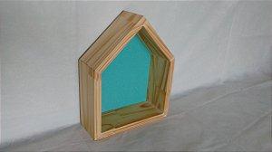 Nicho Montessoriano casinha - Azul Turmalina
