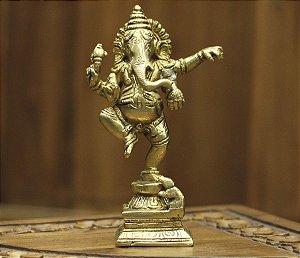 Ganesha Dançando Bronze 15cm