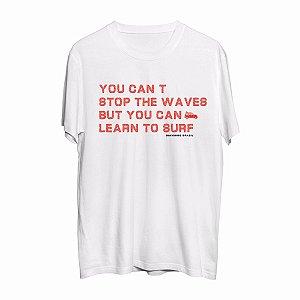 Camiseta Learn to Surf - White