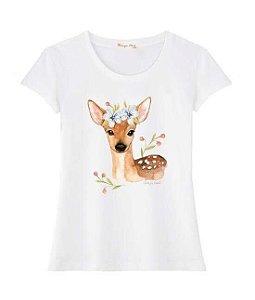 Tshirt Cereja Pink Bambi Flores