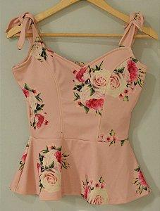 Blusa Floral Rosa