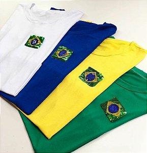 T-shirt Brasil Gliter