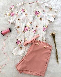 Blusa Buquê de Flores