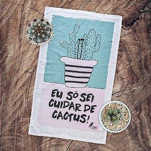 Pano de Prato Personalizado - Cactus