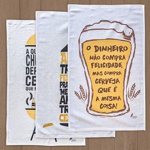 Pano de prato - Kit cerveja & churrasco