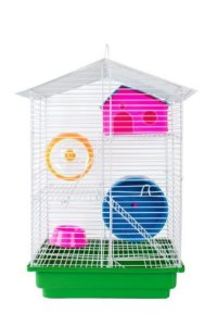 Gaiola para Hamster 3 andares aramado - Jelplast 614