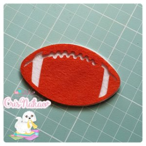 Recortes em Feltro - Aplique Bola Futebol Americano (escolha o tamanho) - 6un