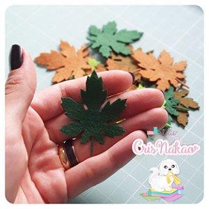 Recortes em Feltro - Folhas de Outono (sortidas)  40un