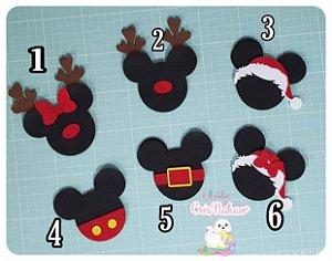 Recortes em Feltro pingentes Disney natalinos 1 - un