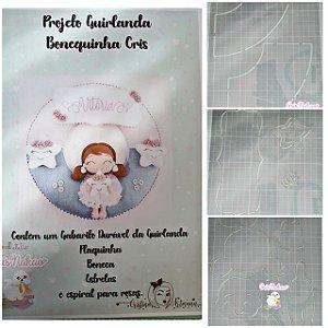 Molde Durável em acetato - Projeto Guirlanda Bonequinha Cris