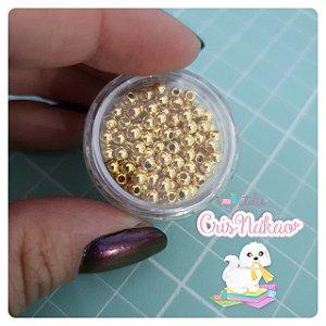 Potinho - Pérola ABS Luli 3mm Dourada - 2g