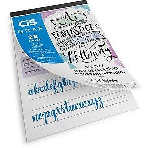 Bloco para educacao artistica Cis Lettering A4 180g. 28fl. - Sertic
