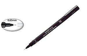 Caneta técnica Uni Pin 0,05mm Preta - Sertic (permanente para desenhar rostinhos)