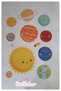 Feltro Estampado Sistema Solar