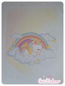 Flamula Unicórnio Baby Nuvens - Estampado em tecido - unidade