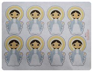 Feltro Estampado - Virgem Maria - Aprox. 10cm altura