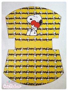 Feltro estampado - Nécessaire Snoopy fundo amarelo