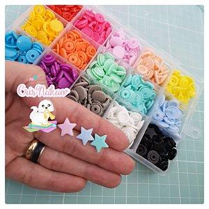 Kit com 150 Botões Estrela sortidos 15 cores - Tic Tac
