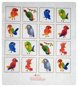 Feltro Estampado - Jogo da memória passarinhos
