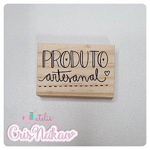 Carimbo Artesanal - Produto Artesanal - Base 6x4cm
