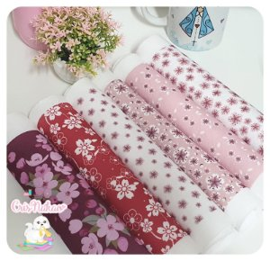 Kit Feltro estampado - Kokeshi Sakura ( 6 estampas)