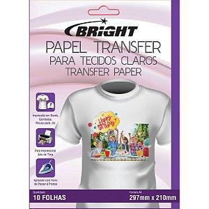 Papel transfer A-4 Tecidos Claros Bright Pacote com 10 folhas