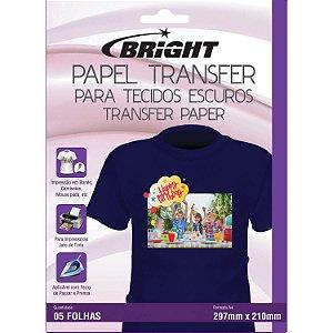 Papel transfer A-4 Tecidos Escuros Bright Pacote com 5 Folhas