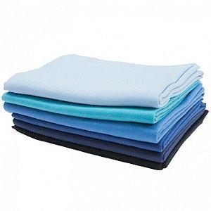 Kit em Tons de Azul 6 Peças