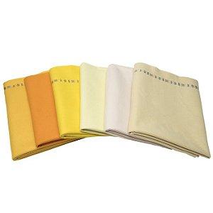 Kit em Tons de Amarelo com 6 Peças