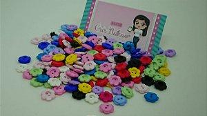 Botão Colorido Margaridas 13mm