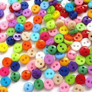 Botões Redondos Coloridos 6mm - 30 un Sortidos